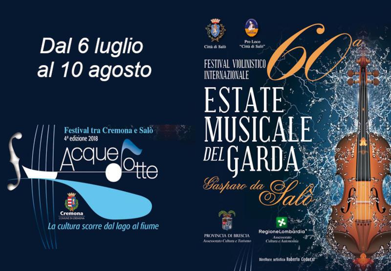 60a Estate Musicale del Garda & Festival AcqueDotte
