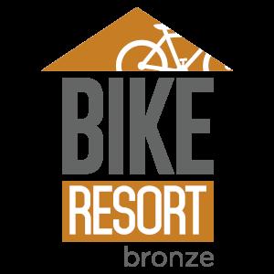 Bike resort logo bronze