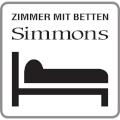Zimmer mit Matratzen Simmons